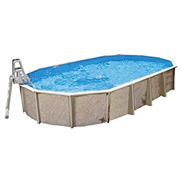 Interline Century - Piscina (Piscina con Anillo Hinchable, Ovalada ...