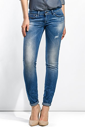 Salsa - Jeans Shape Up jambe slim avec petites dchirures - Femme