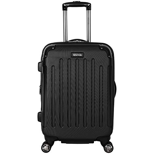 """Kenneth Cole Reaction Renegade 20"""" Carry-On Lightweight Hardside Expandable 8-Wheel Spinner Cabin Size Suitcase, Black…"""