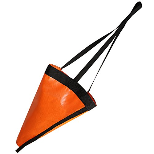 MOOCY 32-Inch Drift Sock Sea Anchor Drogue, High Visibility Orange Sea Brake for Marine Boat/Yacht/Jet Ski/Inflatable/Power Boat/Sail Boat