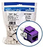 Leviton 5G110-BP5 Category 5e Plus QuickPort Snap-In Connector - Purple