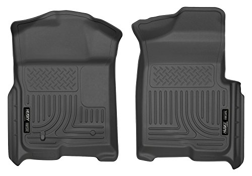 Husky Liners Front Floor Liners Fits 09-14 F150 SuperCrew/SuperCab/Standard (Mat Standard Ford)