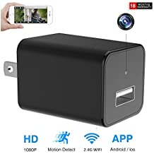Wifi Surveillance Hidden Camera 1080P Motion Detect Alert Message Wall Adapter Camera Real Remote View For IOS and Android