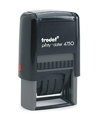 (Trodat 4750 # Self-inking Date Stamp with Custom 2 Line of 2 Color Text)