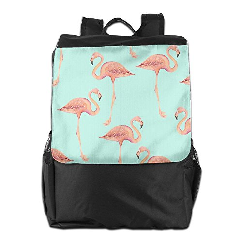 Shoulder Outdoors Strap Men Camping And Personalized For Storage HSVCUY Adjustable Backpack Pink Travel Women School Dayback Flamingos 5Szxq1w