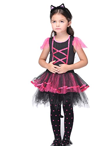 C.X Trendy Children's Halloween Gift Role Pretend Cats Cosplay Catarina Costume (L(6-7), cat) - Catarina Halloween Costumes