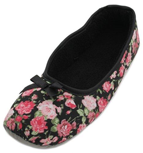 SlumberzzZ - Zapatillas de estar por casa de Material Sintético para mujer negro