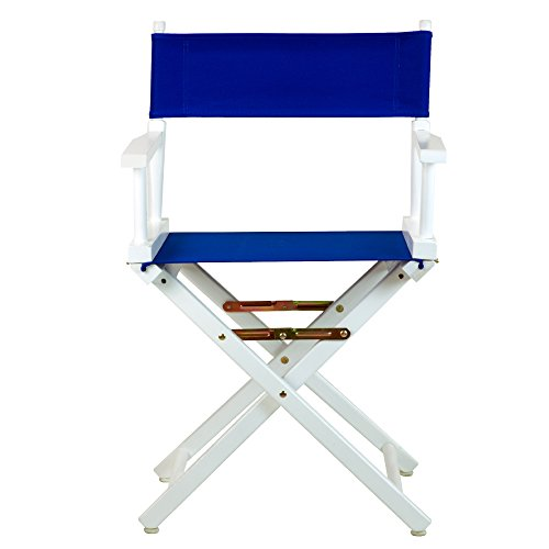 ctor's Chair White Frame with Royal Blue Canvas (Royal Blue Chair)