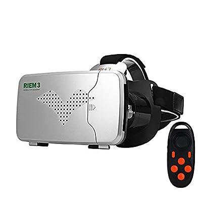 Black RITECH RIEM 3 VR Virtual Reality Headset 3D Glasses with Black Remote Control
