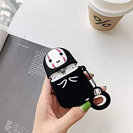 Faceless Man Designed for Kids Girl and Boys 3D Funny Comics Pattern LKDEPO Airpods Silicone Case Cartoon Cover Compatible for Airpods 1/&2
