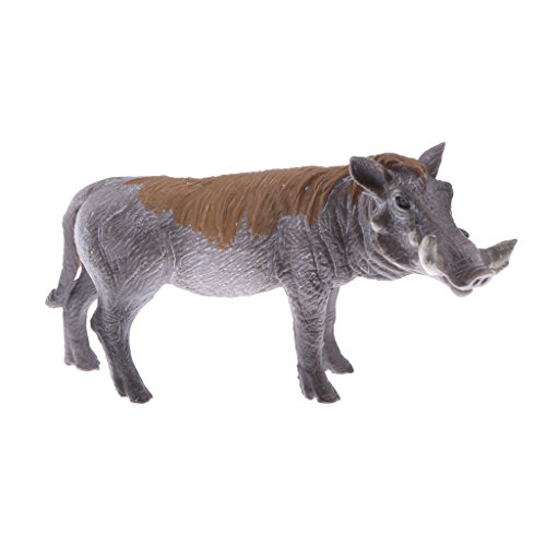 MagiDeal Realistic Animal Model Male Warts Pig Action Figure Figurine Children Kids Nature & Science Learning Toy Gag Toy Practical Jokes