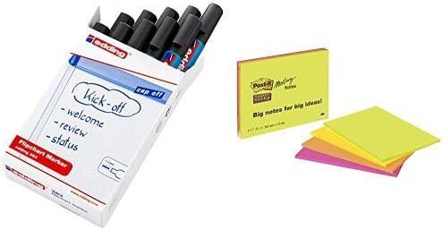 Edding 383 Flipchart Marker (Keilspitze), 10 Stück schwarz
