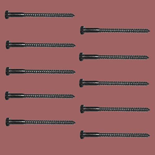 [해외]5 16 X 4 지연 볼트 검은 색 아연 10 팩/5 16  X 4  Lag Bolt Black Zinc 10 Pack