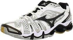 Mizuno Men's Wave Tornado 8 Volleyball Shoe,White/Black,7 M US