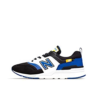New Balance Mens 997H V1 Sneaker, Black/Team Royal , 7