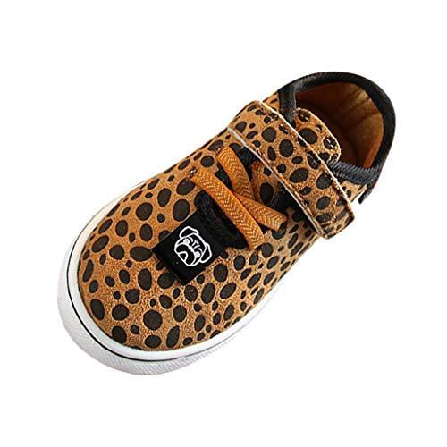 Bambino Sneaker Appena Scarpe Piccolo Giallo Gancio Vovotrade Ginnastica Neonati Soft Unisex Donna Cinturino Con Print Nato A Da Leopard qfcHfwPt