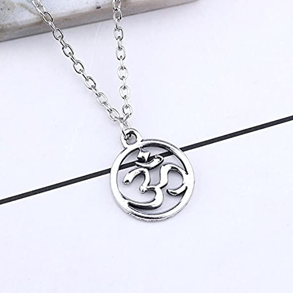 Rose Gold-plated Silver 17mm Barbell Pendant