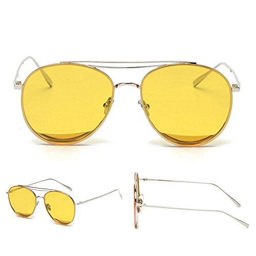 Z&YQ Lunettes de soleil mode mâle et femelle couleur film transparent lunettes de soleil , gold tuhao gold