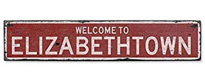 Welcome to Elizabethtown - Vintage US Elizabethtown, Kentucky Distressed Custom Wooden City Sign