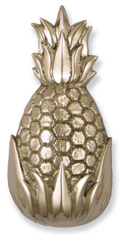 Hospitality Pineapple Door Knocker - Nickel Silver (Premium Size) (Door Pineapple Brass Knocker)