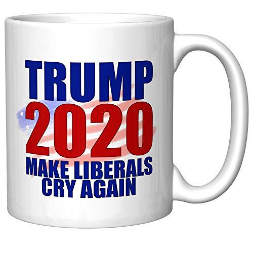 Trump 2020, Make Liberals Cry Again With Flag Coffee Mug