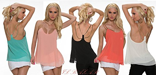 IL BAZAR - Camiseta sin mangas - para mujer albicocca