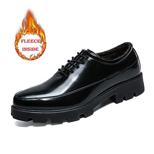 Xujw-shoes, 2018 Scarpe Stringate Basse Oxford da uomo, da lavoro Comfort Classic Plus Cotton Warm Scarpe da cerimonia di alta qualit