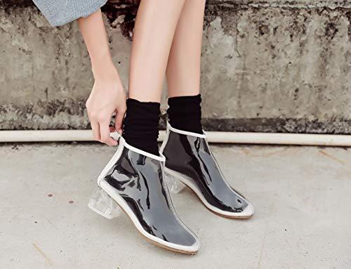 Vaneel Blanc Femme Éclair vabtrt Chaussures Bottes 5 Fermeture B ToeCM Round 1gR1qU