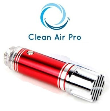 Car Air Ionizer Air Freshener and Purifier! Virus Bacteria and Allergens KILLER! Allergy and Asthma Reliever, Give Your Children, Family Members and Yourself a Purified World! Remove Cigarette Smell, Pet Smell, Dust and Air Pollutants and All Kinds of Bacteria! CleanAirPro® Red Color.