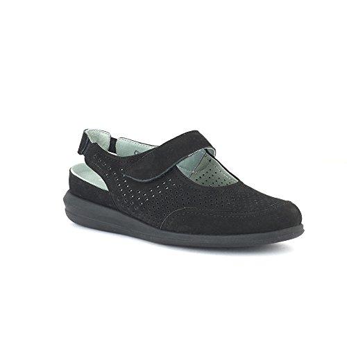 David Tate - Womens Clever Sandals Black Nubuck, Size-5.5M