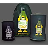 KoozieFlashlight New Year Special 50% Off Drinks LED Flashlight Stubby Holder The Beverage Bottle Cooler (Green) Male Designed Cooler- Flashlight, Water Bottle Accessory - Great for Your Gift Baskets.