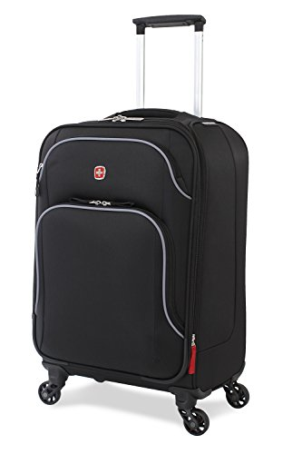 "SwissGear Nyon 20"" Lightweight Carry-on Suitcase, Black"