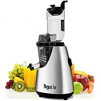 "Argus Le Cold Press Juicer, 3"" Big Month Whole Slow Masticating Juicer, Easy Cleaning Slow Juicer, 75mm Wide Chute Vertical Juicer Machine"