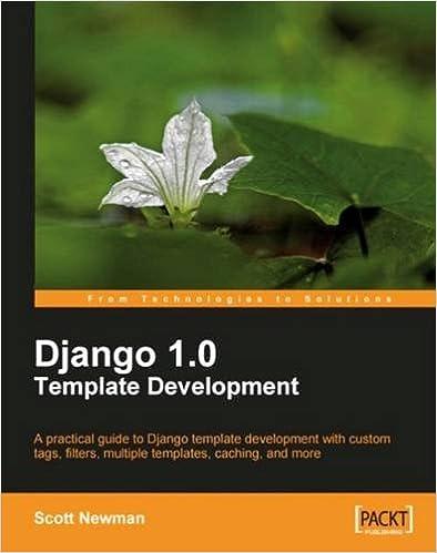 Django 10 Template Development Scott Newman 9781847195708 Amazon