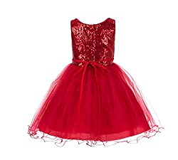 Sequin Tulle Flower Girl Dress