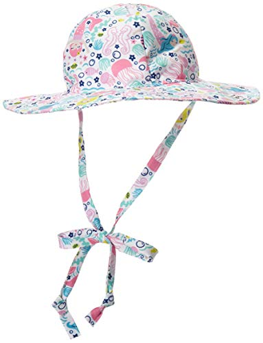 Malibu Hat - Flap Happy Baby Girls UPF 50+ Floppy Hat, Malibu Mermaid, Large