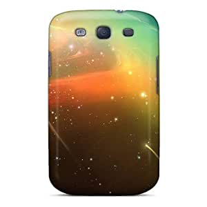 linJUN FENGGalaxy S3 Case, Premium Protective Case With Awesome Look - Planets Comets
