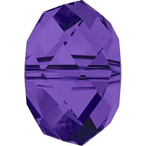 (5040 Swarovski Crystal Beads Briolette 6mm | Purple Velvet | 6mm - Pack of 10 | Small & Wholesale Packs)