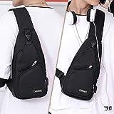 Sling Chest Bag for Men Women, Waterproof Sling Bag