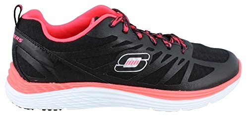 Skechers Womens Relaxed Fit Valeris Flying High Sneaker Zwart Roze