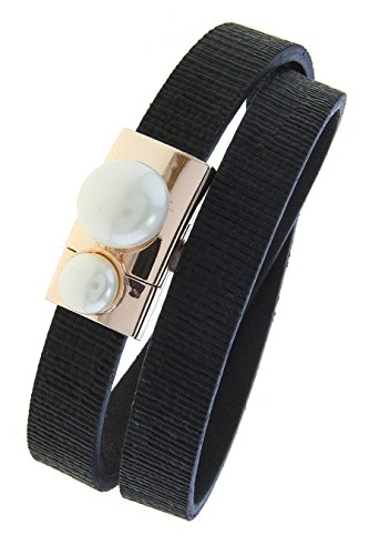 Diy Fashion Designer Costume (TRENDY FASHION JEWELRY FAUX PEARL TEXTURED WRAP BRACELET BY FASHION DESTINATION | (Black))