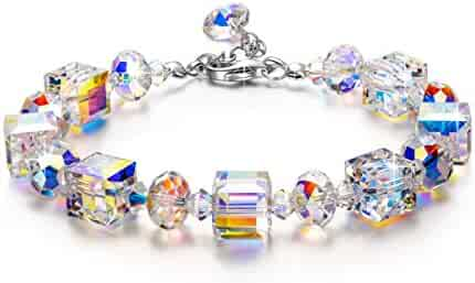 LADY COLOUR Bracelet ♥Valentines Day Present♥ A Little Romance Series Adjustable 7-9 in Bracelet, Aurora Crystals from Swarovski