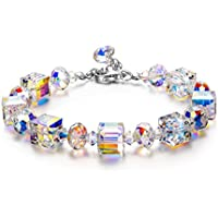 LADY COLOUR Bracelet A Little Romance Series Adjustable 7-9 in Bracelet Made with Swarovski Crystals, Save 85% on Sapphire Heart Necklace(B071CG5SM8)-Add Both to Cart