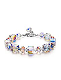 """LadyColour """"A Little Romance"""" Crystal Bracelet, Made with Swarovski Crystals Jewelry for Women, Mothers Day Gifts for Women, Birthday Gifts for Girlfriend Gifts for Her"""
