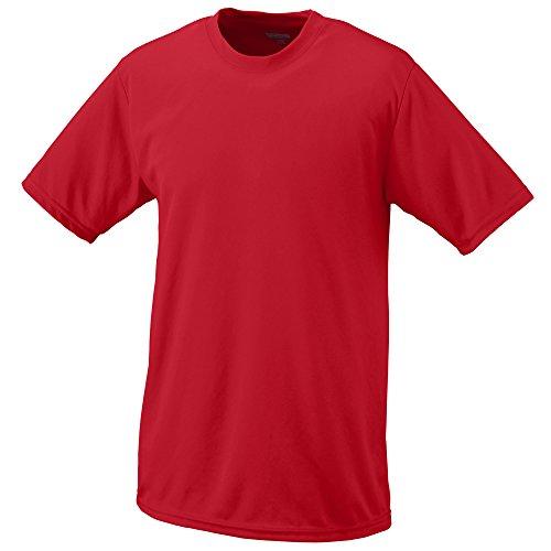 (Augusta Sportswear Teen-Boy's Wicking t-Shirt, Red, Medium)