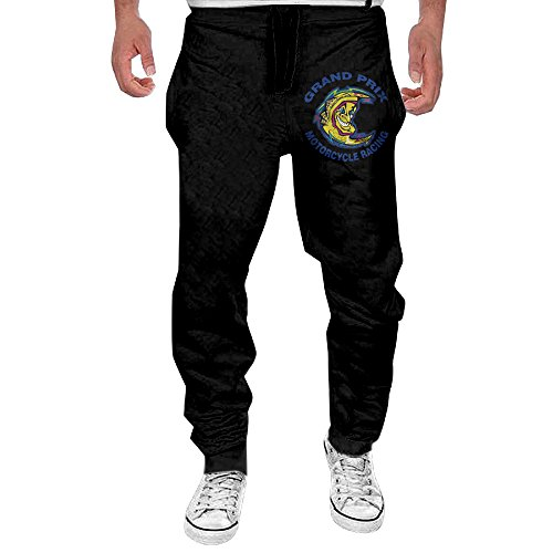 Price comparison product image Men's Valentino Rossi MotoGP F1 Bottom Sweatpants Black Funny