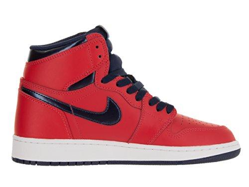 Nike Menns Air Jordan En Mid Basketball Sko Lys Rød / Mid Navy / Universitet Blå