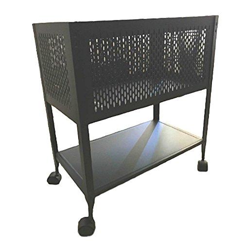 Hanging File Folder Cart on Wheels Filing Rolling Storage Organizer Cabinet Letter Heavy DutySteel Open Top & eBook
