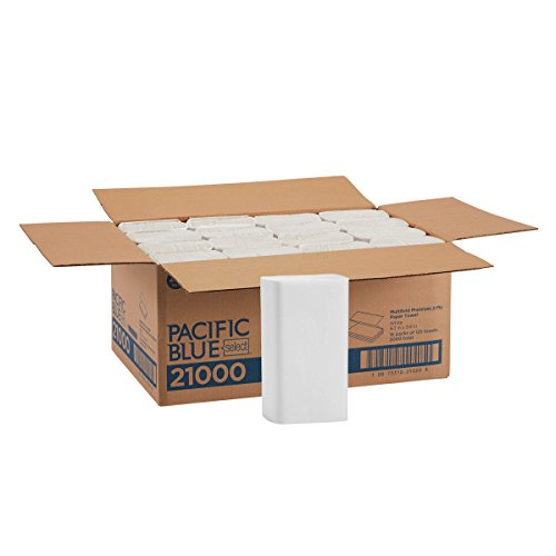 Dispensers Paper Toilet Scott - Pacific Blue Select Multifold Premium 2-Ply Paper Towels (Previously Branded Signature) by GP PRO (Georgia-Pacific), White, 21000, 125 Paper Towels Per Pack, 16 Packs Per Case