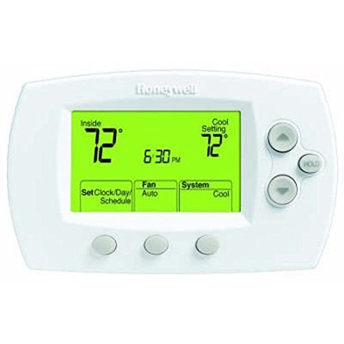 Honeywell TH6110D1005 FocusPRO 6000 Programmable Thermostat, White
